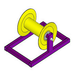 Прямой стандартный кабельный ролик РПК 150Э